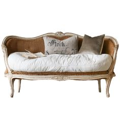 Genuine Antique Louis XV Style French Settee From The 1880s Antique French  Chic Settee   One
