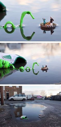 Workshop - Montage Photo chaussure / bateau capsule de bouteille en 3 vignettes