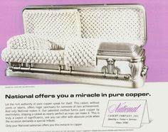 Funeral Sprays, Funeral Homes, Home History, Lay Me Down, Retro Advertising, Pure Copper, Casket, Urn, Coffin