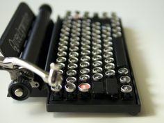 The Qwerkywriter - Typewriter Inspired Mechanical Keyboard by Qwerkytoys, INC — Kickstarter Tech Gadgets, Cool Gadgets, Office Games, Tech Toys, Tablet Stand, Vintage Typewriters, Inexpensive Gift, Geek Girls, Grab Bags