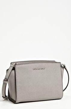 I'm dreaming of grey bags lately. Love this MICHAEL Michael Kors 'Selma - Medium' Leather Shoulder Bag in Pearl Grey.
