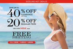 40% Off Clearance + 20% Off Regular Items + Free Shipping