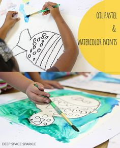 WATERCOLOR-FISH-ART-PROJECT-FOR-KIDS 30 min kinder lessons