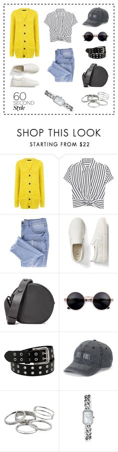 """Casual outfit"" by marinaova ❤ liked on Polyvore featuring Pink Tartan, T By Alexander Wang, Essie, Gap, Diane Von Furstenberg, SO, Kendra Scott, Chanel, amusementpark and 60secondstyle"