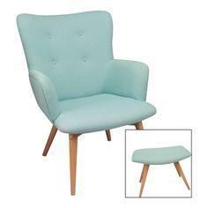 Wens je een uniek stuk in uw interieur? Uitgevoerd in een retro design, geïnspireerd op de meubels uit de jaren vijftig, is deze fauteuil in limoen groene kleur een ware eye-catcher in uw interieur! Puur genot in een retro jasje: http://www.duvergerhome.be/duverger-fauteuil-zetel-met-voetbank-turquoise.html