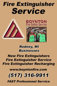 Fire Extinguisher Service Rodney (517) 316-9911 Discover the Complete Source for Fire Protection Equipment and Service.. We're Boynton Fire Safety Service!! Call us Today!