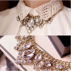 Crystal Drop Vintage Gold Choker Chain Bib Statement Necklace For Women necklaces & pendants-in Chain Necklaces from Jewelry on Aliexpress.com | Alibaba Group