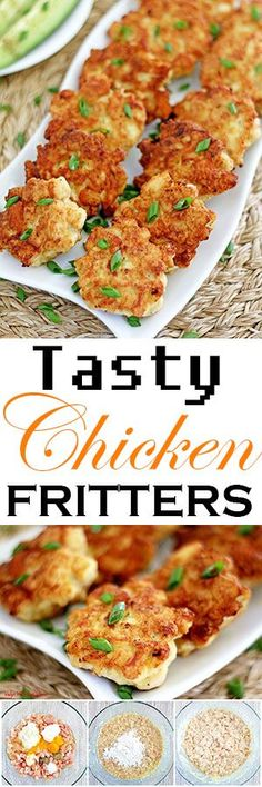 Meet the chicken nugget's fancy cousin! These tasty things are literally one of the easiest things you can ever make and absolutely fantastic. Crispy one the outside, soft and juicy on the inside with a little hint of garlic, will instantly make you a fan. #chickenfritters #easyrecipe