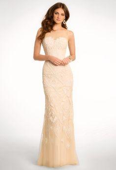 Allover Opaque Beaded Mesh Dress