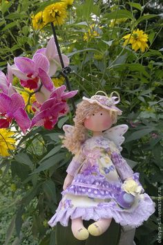 """Forest Fantasy. ....(i would love to have this LOVELY doll! her """"orchid colored"""" dress is so pretty on her, too.)"""