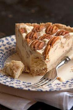 Pecan Pie Ice Cream Pie - Id use Butter Pecan Ice Cream and a carmel layer on the bottom :)