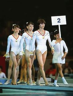 Team Romania and Nadia Comaneci, first one in the world with 10 on Olympics.