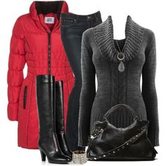 Winter Wear by daiscat on Polyvore featuring Paige Denim, L'Autre Chose, Steve Madden and Vero Moda