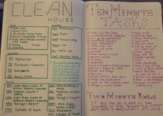 Cleaning House task 2-page spread