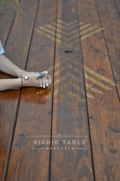 Picnic Table Makeover - Vintage Revivals