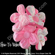 Washcloth Flower Bouquet Video Tutorial
