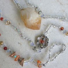 Handmade Citrine Necklace Gemstones by GypsiesBitsNBaubles on Etsy