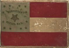"Flag of the ""Hempstead Rifles"", a three month Confederate unit raised in Hempstead County, Arkansas, May 1861"