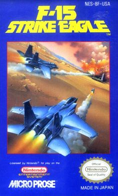 F-15 Strike Eagle - Label or Box Art #nintendo games #gamer #snes #original #classic #pin #synergeticideas #gameon #play #award