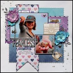 I have seen some stunning blue and purple scrapbook pages lately. I believe that the colour of the year 2018 is purple...so I thought I mig...
