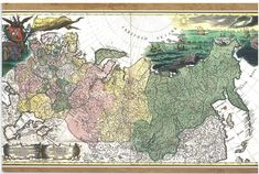 Poster Many Sizes; Geographic Map Of The Russian Empire Russia