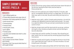 Simple Shrimp & Mussel Paella