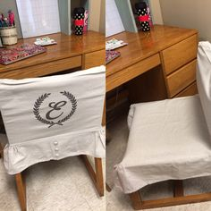 New dorm chair covers!