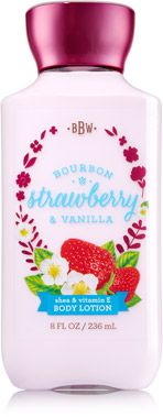 Bourbon Strawberry & Vanilla Body Lotion - Signature Collection - Bath & Body Works