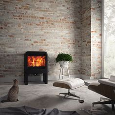 The stylish Rock 350 wood burning stove features advanced combustion technology that produces a generous 7kW output at 80% efficiency.