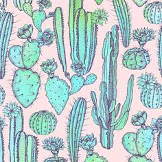 Cactuses by Elmira Amirova available on patternbank → https://patternbank.com/elmiraamirova