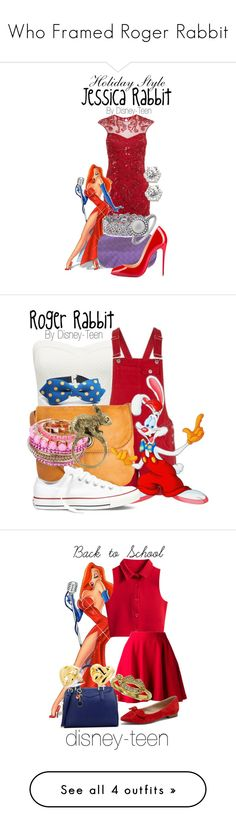 """""""Who Framed Roger Rabbit"""" by disney-teen ❤ liked on Polyvore featuring Bottega Veneta, Christian Louboutin, Palm Beach Jewelry, Effy Jewelry, Forever New, Pieces, Converse, Sakdidet Road, Chicnova Fashion and Elle Sasson"""