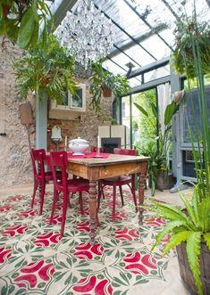 veranda con arredi vintage