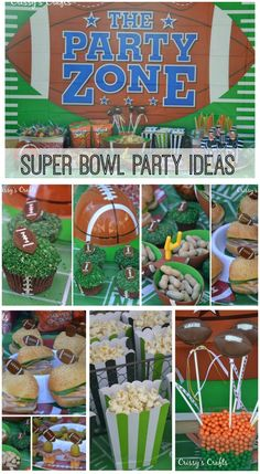 Here are some terrific ideas for your upcoming Super Bowl parties! See more party ideas at CatchMyParty.com. #football #partyideas