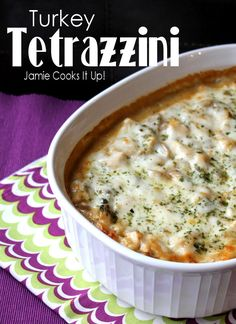 Turkey Tetrazzini, Jamie Cooks It Up! Great way to use the leftover Thanksgiving turkey.