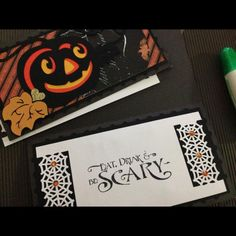 See this Instagram photo by @grntkat390 • awesome vintage inspired Halloween card using cutting files from SVG Cuts