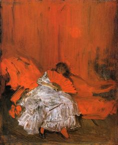 James McNeill Whistler Red and Pink: The Little Mephisto hand painted oil painting reproduction on canvas by artist James Abbott Mcneill Whistler, Freer Gallery, Art Gallery, John Singer Sargent, Red Art, Art Moderne, Art For Art Sake, Art Plastique, Abstract Art