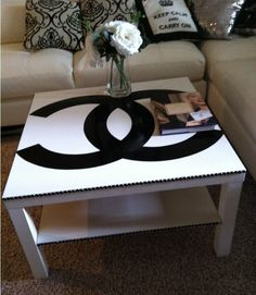 Maybe not chanel, but deffo paint designs on battered lack tables