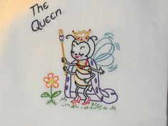 New 7 Busy Bees Hand Embroidered Flour Sack Dish Tea Towels |