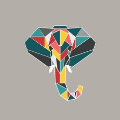 Photo Fabric Pocket Tutorial | Alida Makes. Geometry elephant.