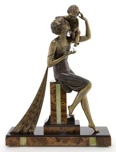 AN ITALIAN ART DECO COLD-PAINTED BRONZE FIGURE  Maker unidentified, Italy, circa 1930
