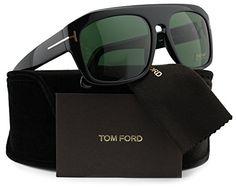 4ddcff99d6 TOM FORD FT0470 Conrad Men Sunglasses Shiny Black w Crystal Green (01N) TF