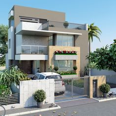 House Outside Design, House Front Design, Cool House Designs, Modern House Design, Bungalow Homes, Bungalow House Design, Architect Design House, Single Floor House Design, Architectural House Plans