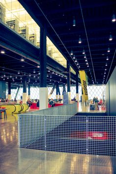 Seattle Public Library Designed By Rem Koolhaas — Inward Facing Girl