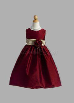 Dresswe.com SUPPLIES Pretty A-line Round-Neck Floor-length Sash  Flower Girl Dress 2013 Flower Girl Dresses