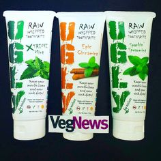 Watch for our review in the March/April issue of VegNews!!  ._ Repost  @vegnews - Toothpaste, reinvented! This Raw Whipped Toothpaste by UGLY comes in cool flavors like Xtreme Mint and Epic...