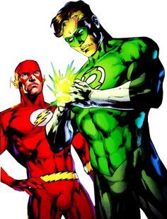 Green-Lantern-and-The-Flash-psd50614.png (305×400)