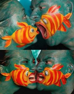 Not only is this Really Cool, but it is Hysterical! Body Art por Guido Daniele.