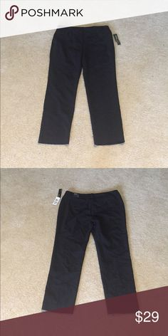 Slim leg, tummy control Black Pants New with tags, inseam 27 inches Alfani Pants