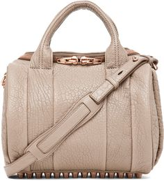 Alexander Wang Rockie Crossbody with Rose Gold in Latte - Lyst