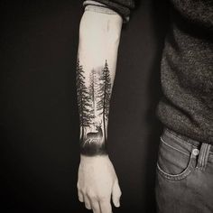 Forest Tattoo by atelier_de_lencre